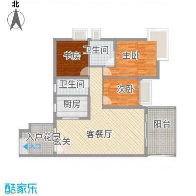 中天彩虹城121.61㎡G6户型3室2厅2卫