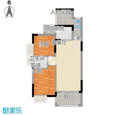 丰泰旗山绿洲87.00㎡6栋标准层03、04户型3室2厅1卫1厨