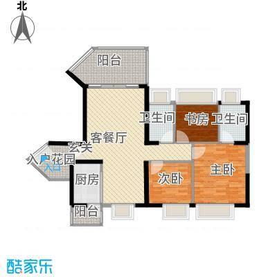 中天彩虹城111.00㎡A2户型3室2厅2卫1厨