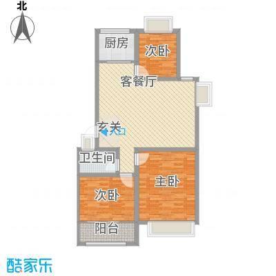 和谐家园113.00㎡C户型3室2厅1卫1厨