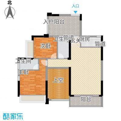阳光海滨花园125.00㎡户型3室