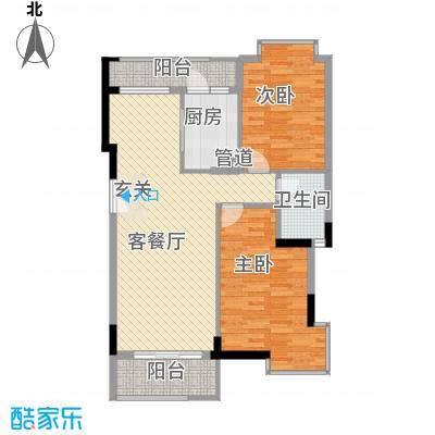 熊猫碧富新城户型2室