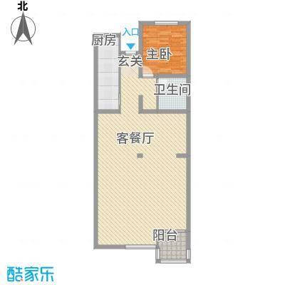 传输局宿舍户型1室1厅1卫1厨