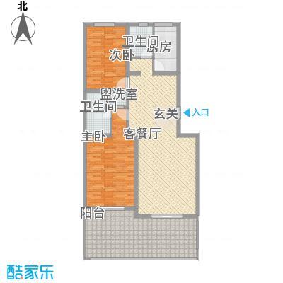 传输局宿舍户型2室1厅1卫1厨