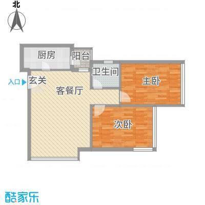 金东国际85.20㎡A2户型2室2厅2卫1厨