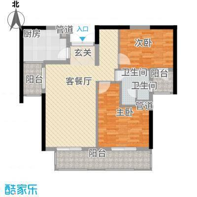 重庆天地雍江翠�一期4-7号楼04-31F标准层5户型