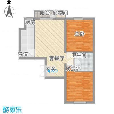 荷花家园户型2室1厅1卫1厨