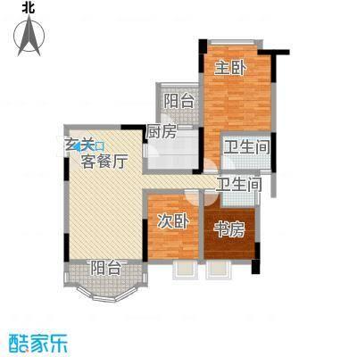 雅豪丽景81.00㎡户型2室