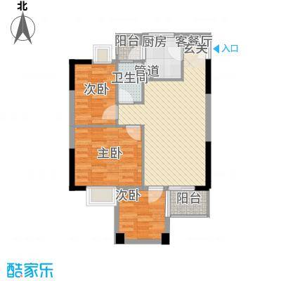 华润广场135.00㎡户型3室