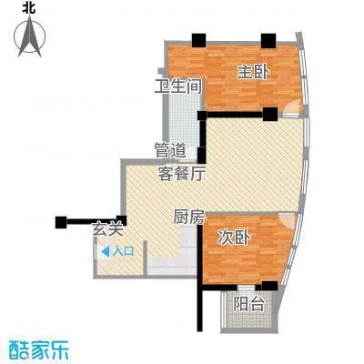 东方新天地大厦117.31㎡06户型2室2厅1卫