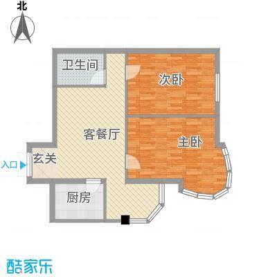 金苑华城8.00㎡户型2室