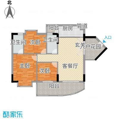 华翠园18.00㎡户型3室