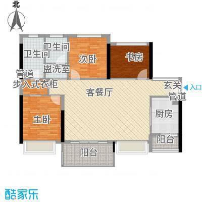上东国际二期户型3室