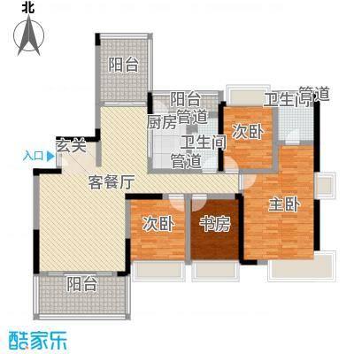 上东国际二期户型4室