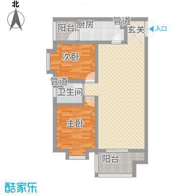 八佳花园8.00㎡户型2室