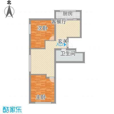 金兴星海国际16.00㎡A3户型2室2厅1卫1厨