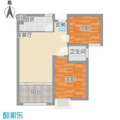 宏辉大厦2140548_3f06户型2室2厅1卫1厨
