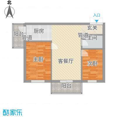 汇龙鑫阁8.66㎡C户型2室1厅1卫1厨