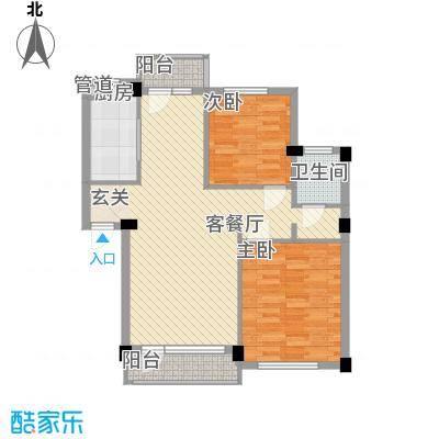 长鹭晶品缘林2户型2室2厅1卫1厨