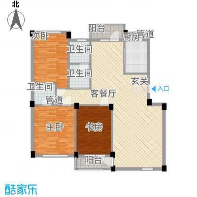 长鹭晶品缘林126.00㎡户型3室