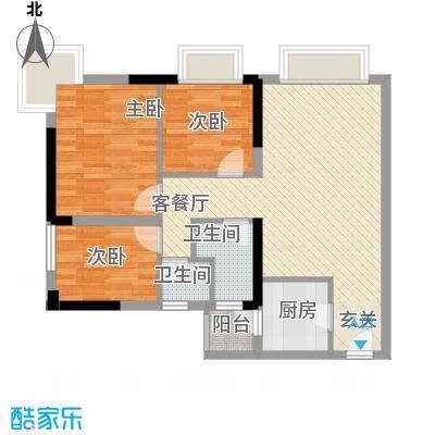 滨江瑞城户型2室