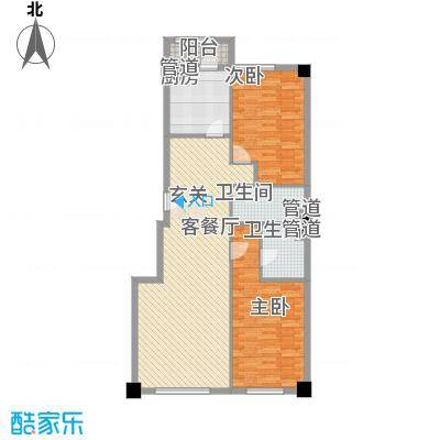 米兰D.C116.00㎡米兰DC1户型2室2厅2卫1厨