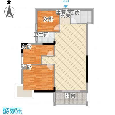 广州白天鹅花园11.00㎡G3栋01单位户型3室2厅