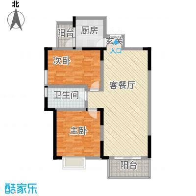 文华园113.00㎡户型2室