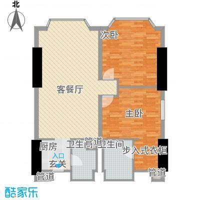 皇爵国际公馆11.86㎡C户型2室2厅2卫1厨