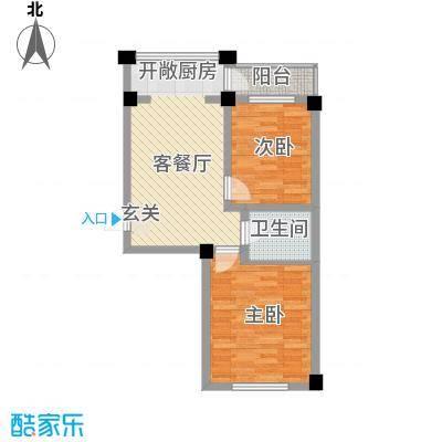 华远・龙湾48.30㎡D户型2室1厅1卫1厨