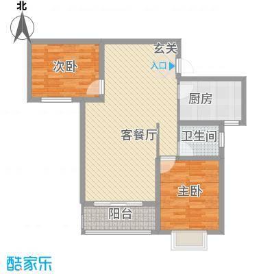 海棠花园3户型2室2厅1卫1厨