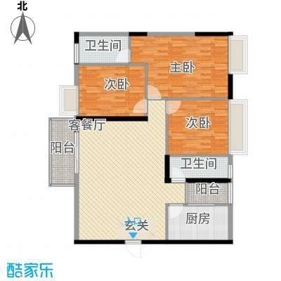 罗浮山岭南雅苑134.22㎡2号楼2单元02户型3室2厅2卫1厨