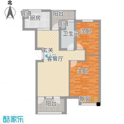 大连天地85.00㎡T1-T16小高层户型2室2厅1卫1厨