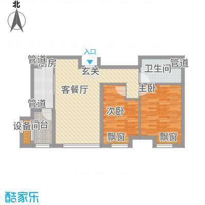 大连天地82.00㎡T18高层户型2室2厅1卫1厨