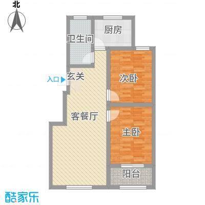 优山美地36户型2室2厅1卫1厨