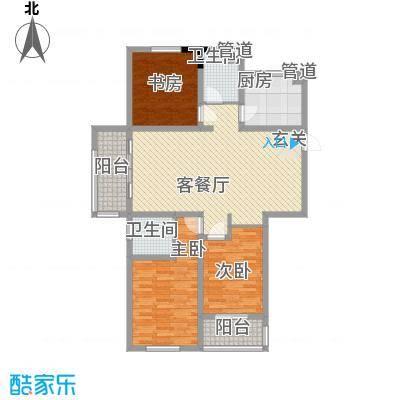 盛世・帝景湾133.30㎡ 户型2室2厅2卫