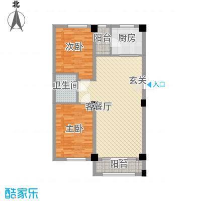 东城宜家7.80㎡F户型2室2厅1卫1厨