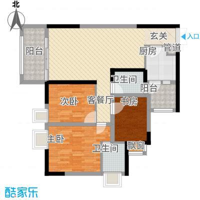 阳光华庭13.00㎡户型3室