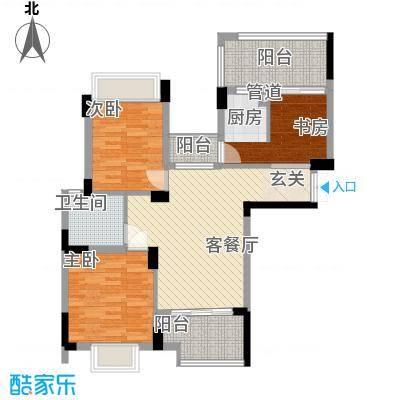 高榜山庄户型3室