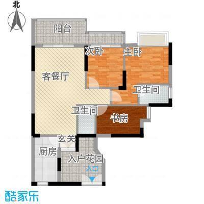 宏新华庭113.43㎡A栋标准层06单元户型