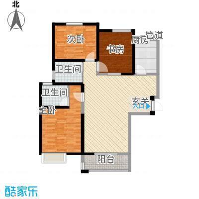紫薇花园11.00㎡户型3室