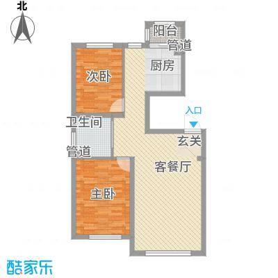 兆丰嘉座3.00㎡1、5号楼户型2室2厅1卫