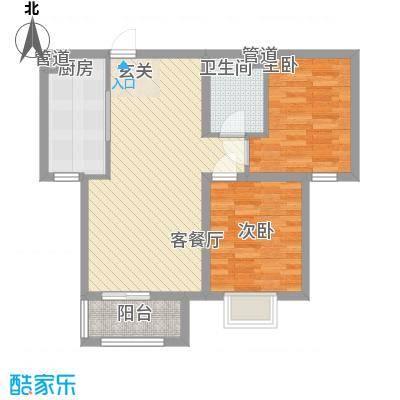 三泰丽园户型2室