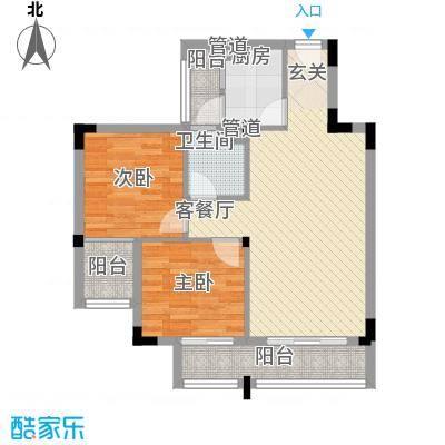 左岸春天8.61㎡1516座01、02户型2室2厅1卫1厨