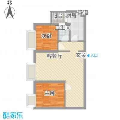 利生丽园71.00㎡户型2室