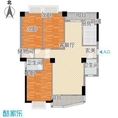 华林东盛花园126.00㎡户型3室
