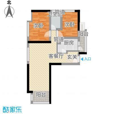种子公司宿舍68.00㎡户型2室1厅1卫1厨