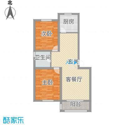 渝景新天地85.00㎡户型2室