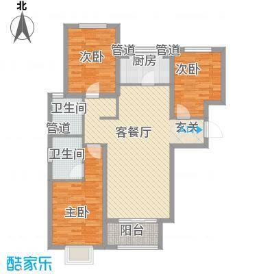 南空花园户型3室