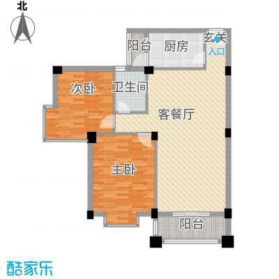 碧湖花园(龙岗)深圳碧湖花园7户型2室2厅1卫1厨